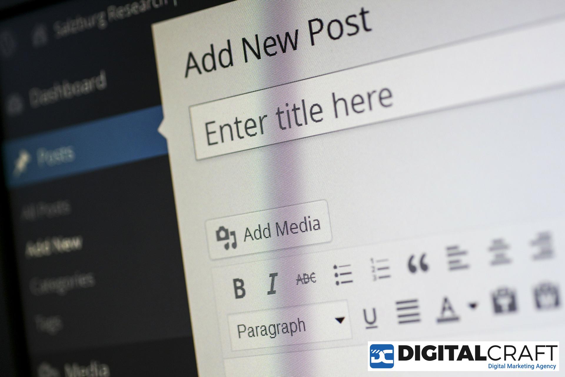 Adaugarea unui articol in WordPress