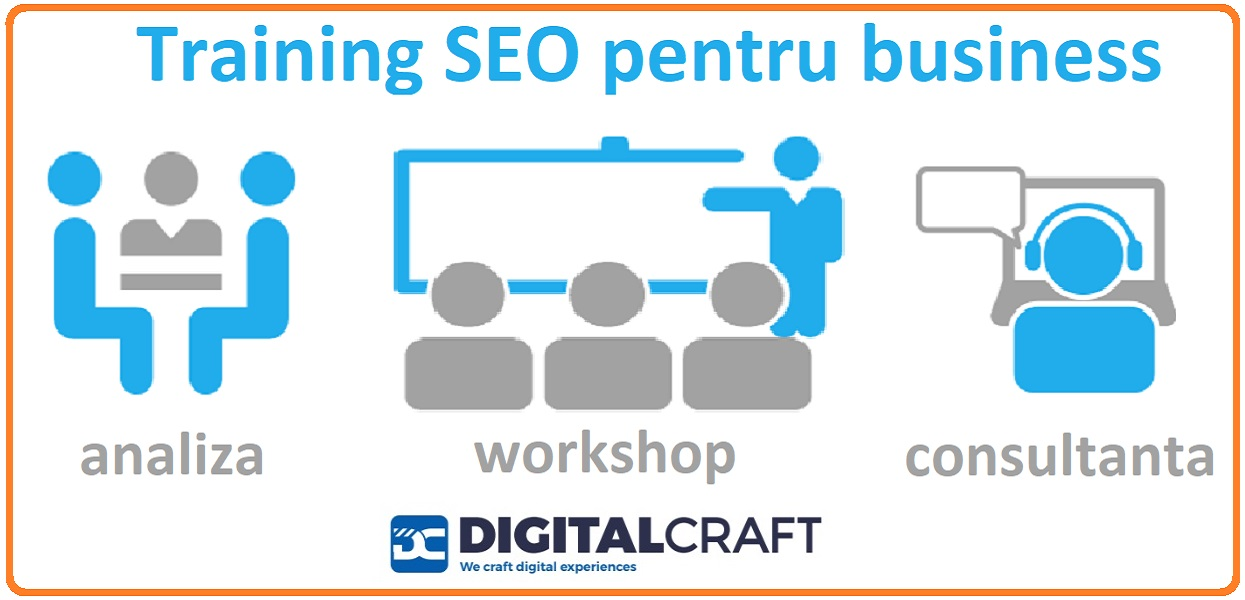 Training SEO - servicii profesionale Digital Craft Agency